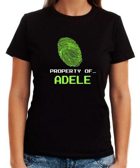 Property Of _ Adele - Fingerprint Women T-Shirts