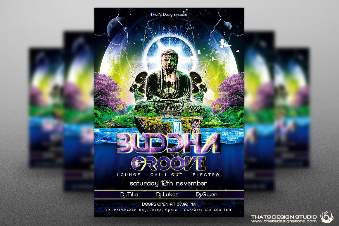 Freebies  Buddha Free Flyer  Free Psd Flyer
