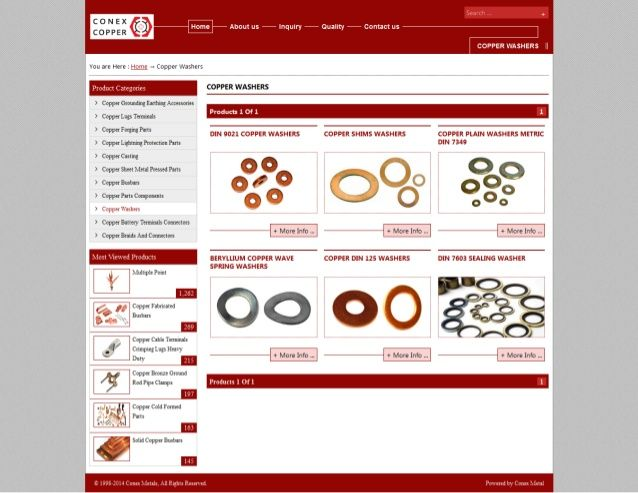 Copper washers by conexcoppe via slideshare