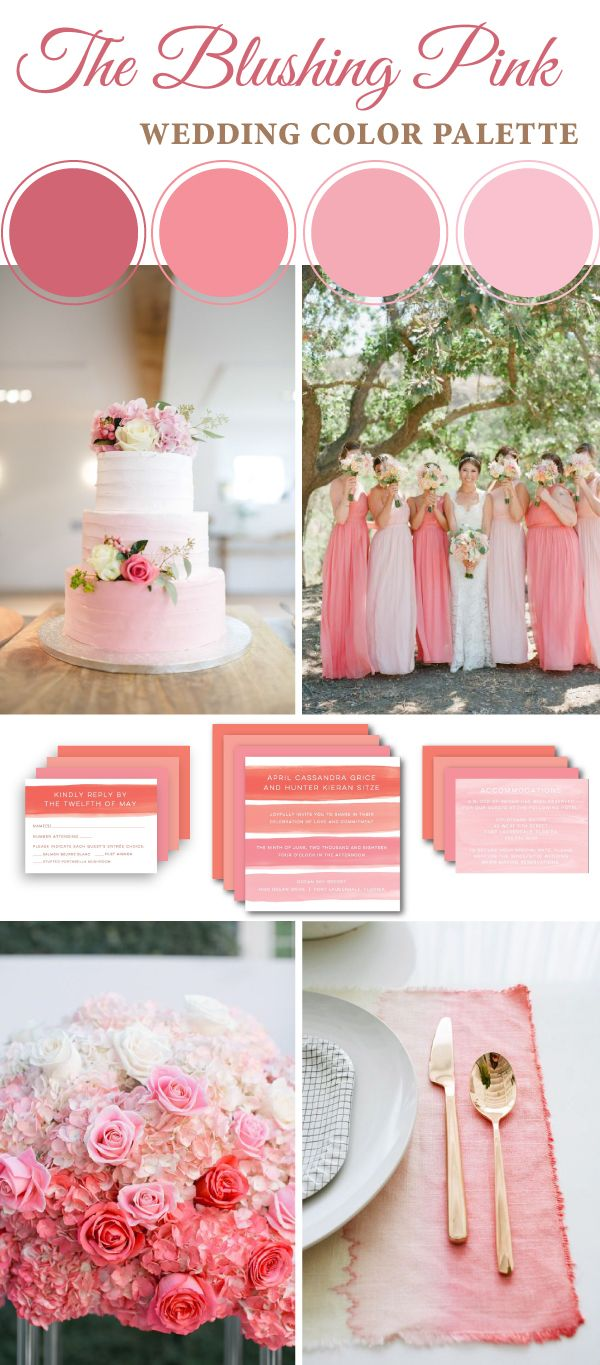 The Blushing Pink Wedding Color Palette | Archea | Pinterest | Pink ...