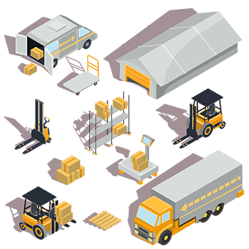 Vector Logistic And Delivery Isometric Icons Cargo Warehouse Freight Png And Vector With Transparent Background For Free Download Desain Sekolah Militer