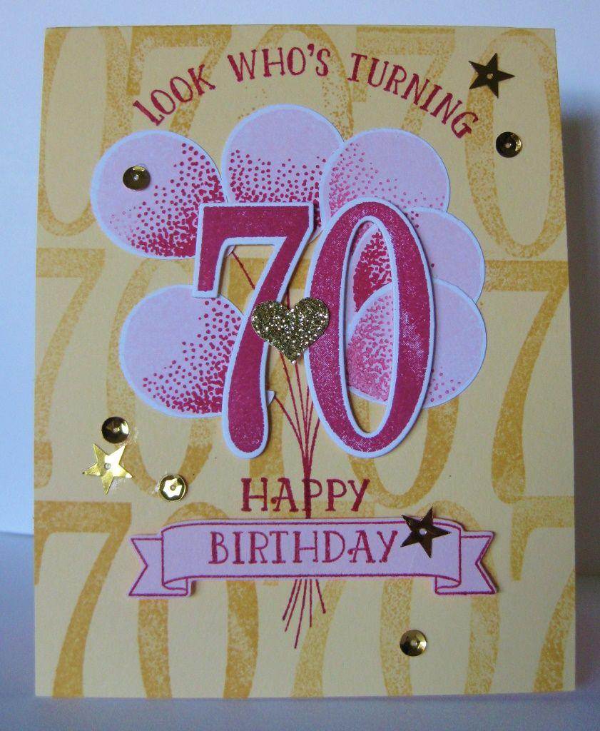 Happy Birthday Susie! 70th birthday card, Old birthday