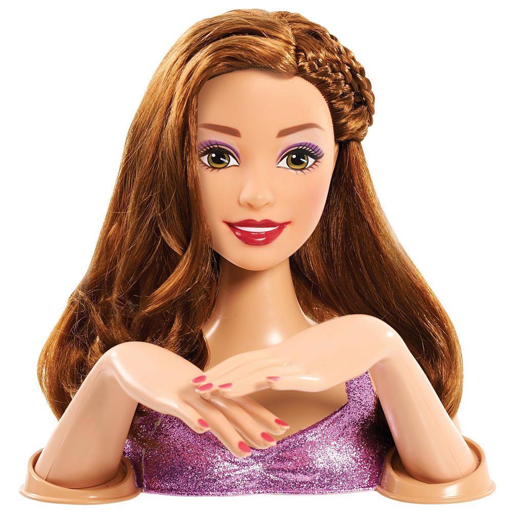 Barbie Deluxe Styling Head Brunette Brunette Barbie Brunette Models