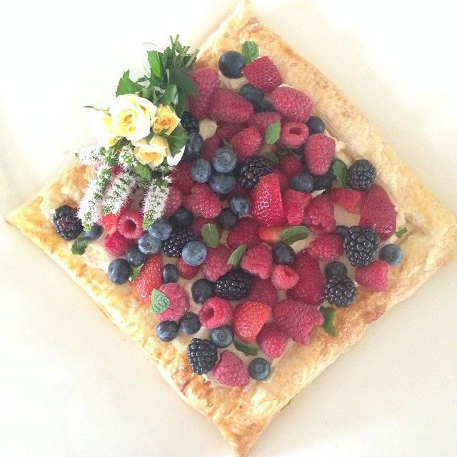 """""""Easy #tart thingy for dessert, bit of a cheats #cheesecake thing going on. Wasn't too bad."""""""