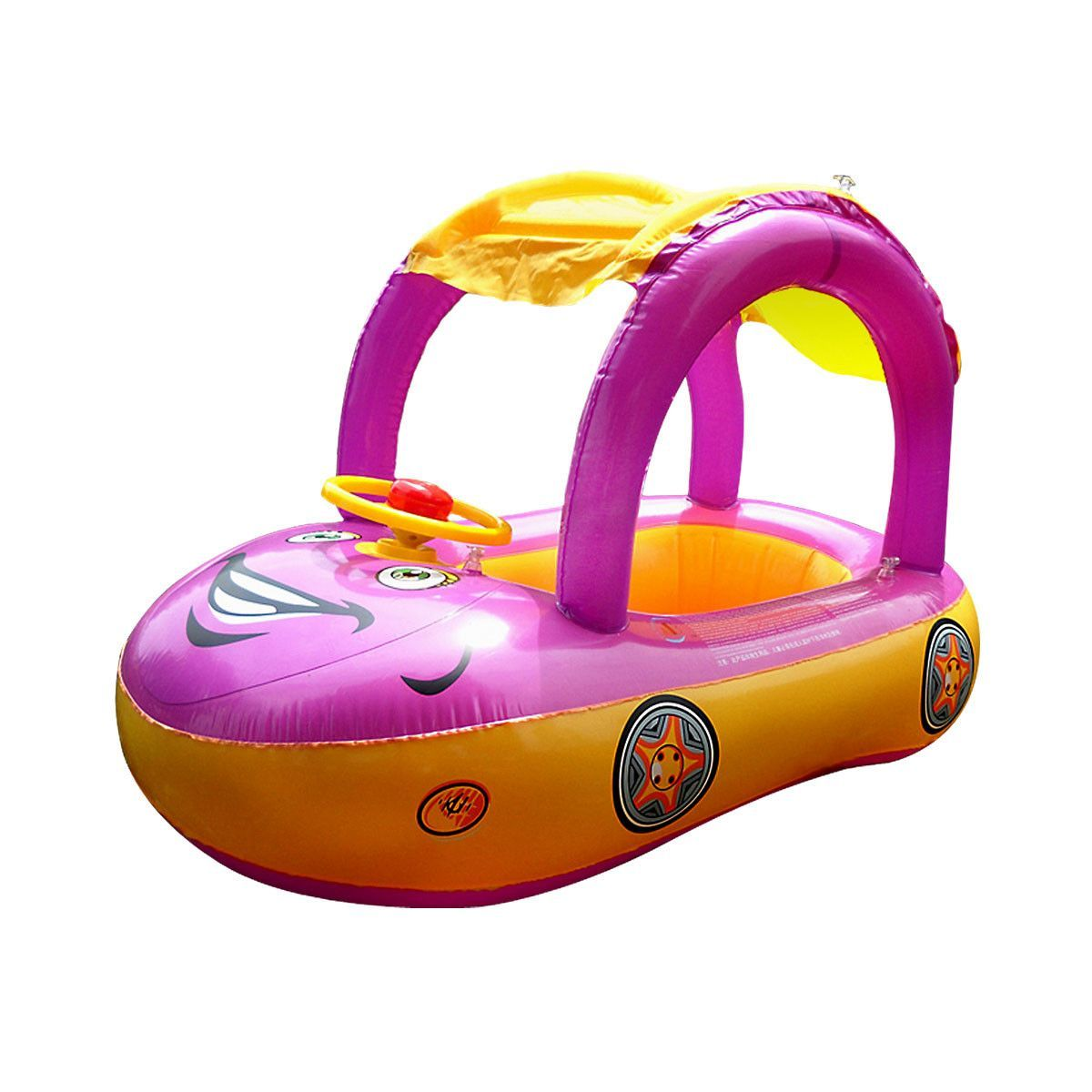 Product details of new inflatable floating swim ring kids children toy - Inflatable Baby Float Seat Boat Tube Ring Car Sun Shade Water Swim Swimming Pool Portable Purple