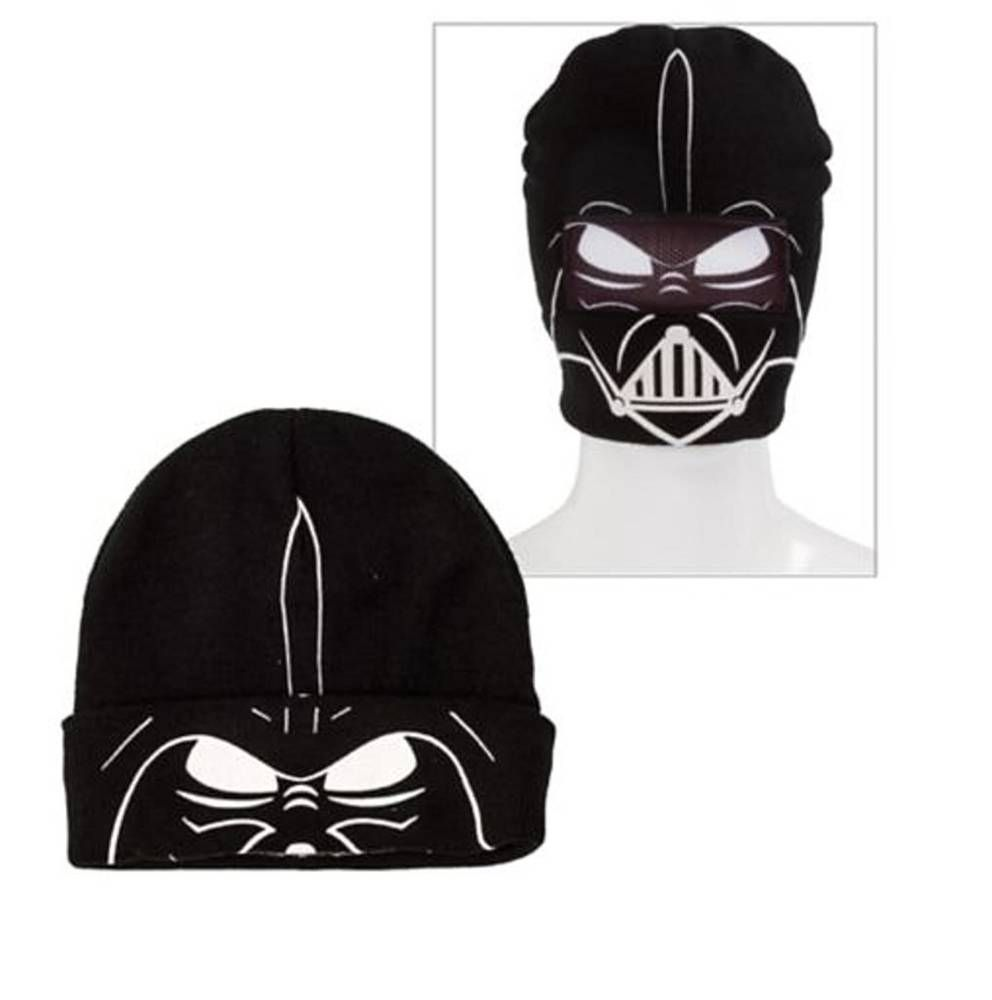 76f9af917 1 New DARTH VADER ROLL-DOWN MASK BEANIE Star Wars Winter Knit Ski ...