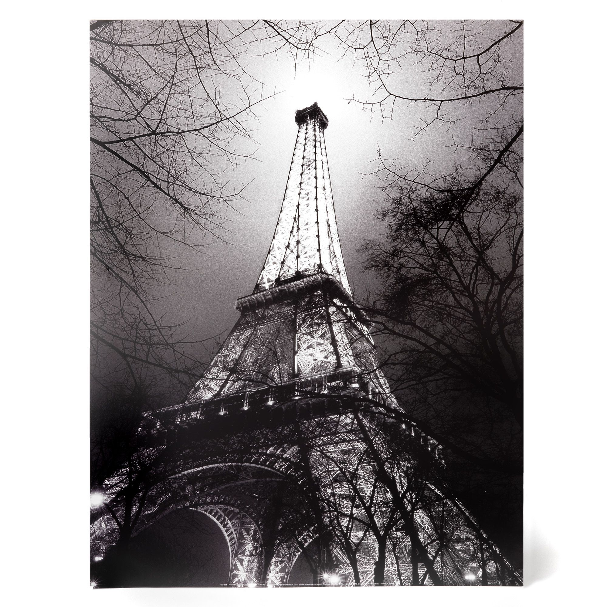 affiche film e noir et blanc majest tour eiffel. Black Bedroom Furniture Sets. Home Design Ideas