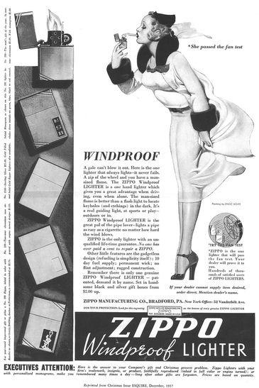 Windy Girl Zippo Lighter Vintage Advertisements Zippo