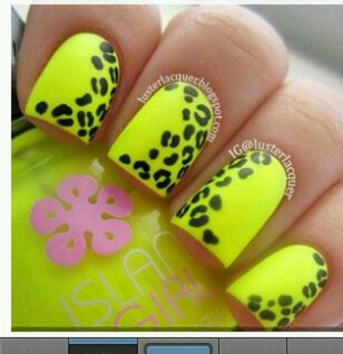 Uñas neon,flourecentes. Con manchas | Nails | Pinterest | Neón ...
