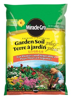 miracle gro 283l premium garden soil plus for flowers and vegetables - Miracle Gro Garden Soil