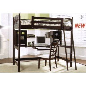 Got this great bunk bed/desk perfect for NYC apartment space-saving