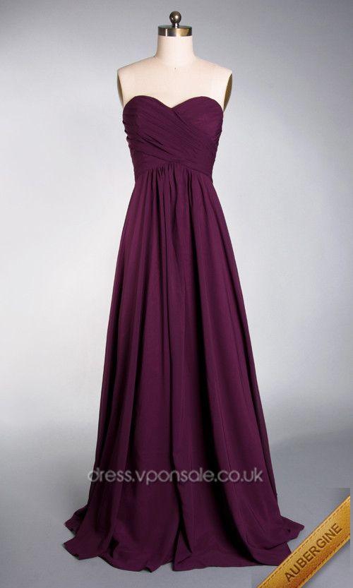 Sweetheart Neck Long Plicated Bridesmaid Dress VPBN891 http://dress ...