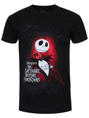 Nightmare Before Christmas Dark Love Men's Black T-Shirt #nbx #jackskellington