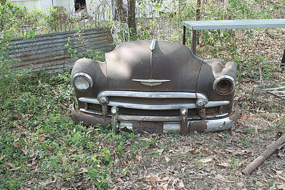 Vintage Industrial Salvage Car Parts Furniture Home Decor Chevy