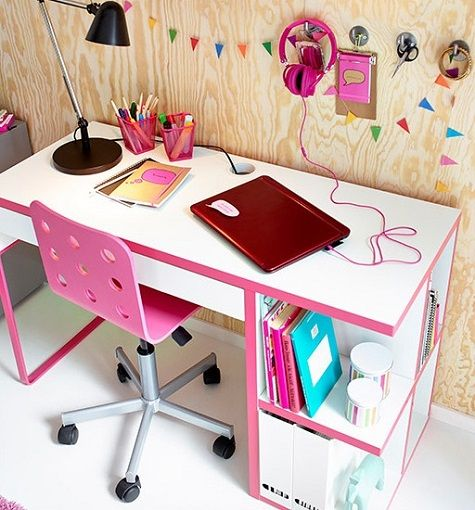 Mesa de estudio decorada juvenil decoracion - Mesa escritorio juvenil ...