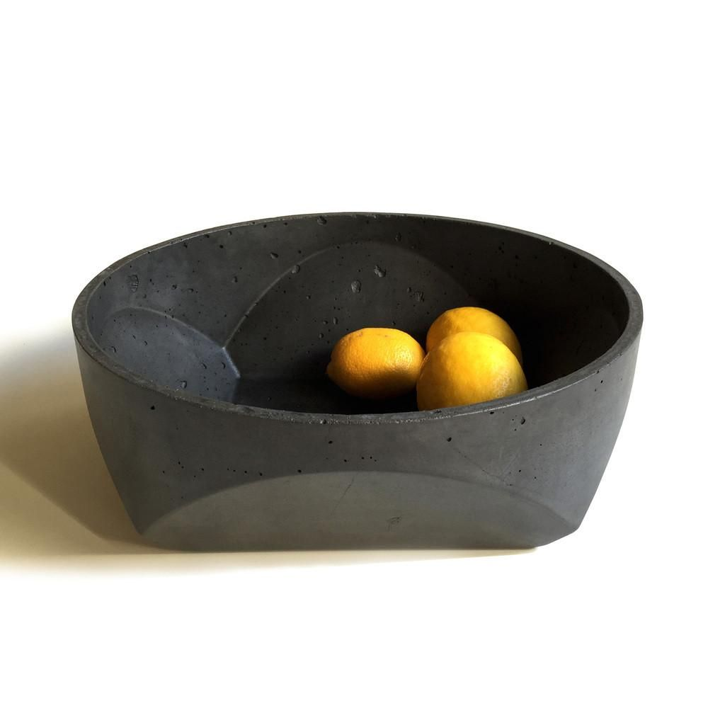 Black Decorative Bowl Concrete Bowlalice Tacheny  Concrete Bowl Concrete And Bowls
