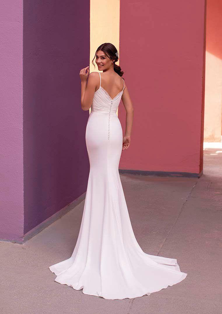 Mermaid Wedding Dress With Straps Lilac White One Wedding Dresses With Straps Dresses Lovely Wedding Dress [ 1076 x 761 Pixel ]