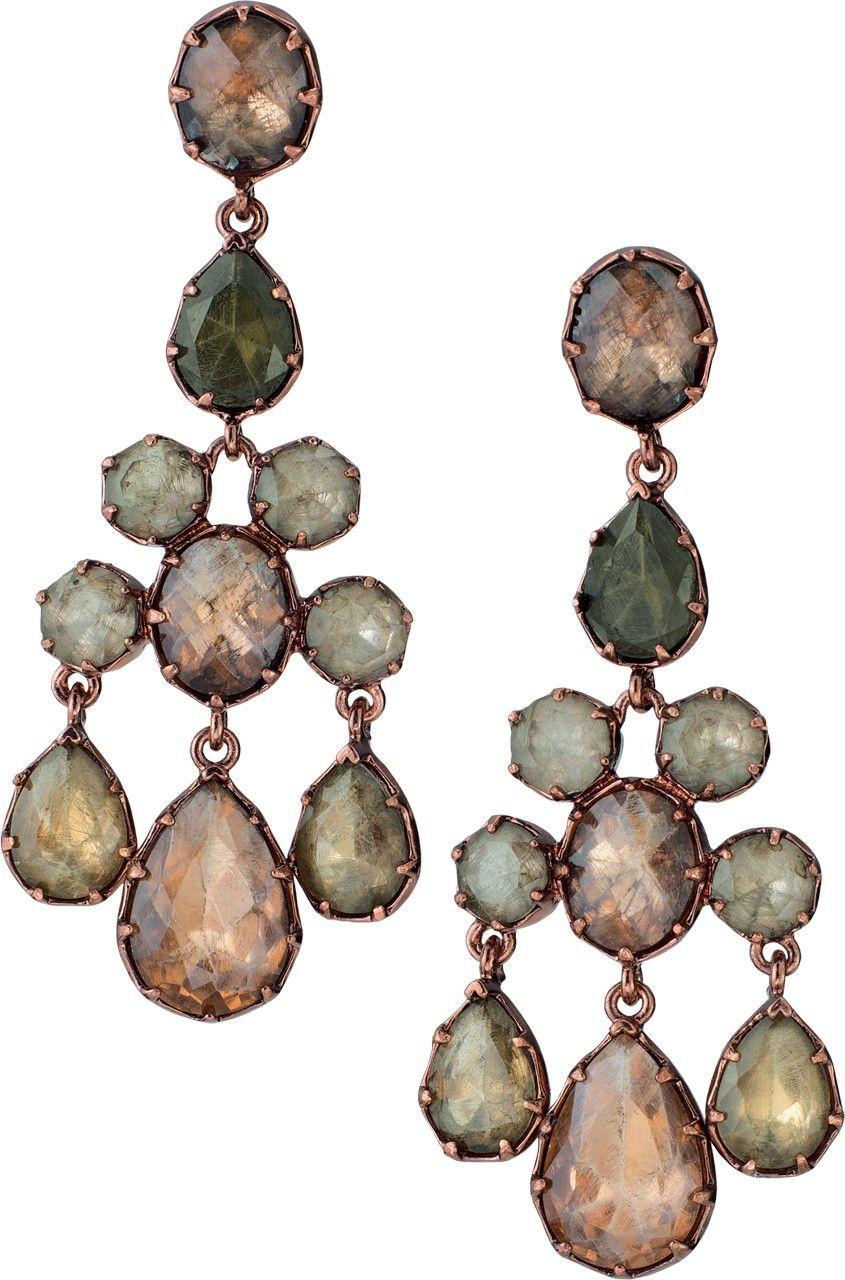 muted gem earrings