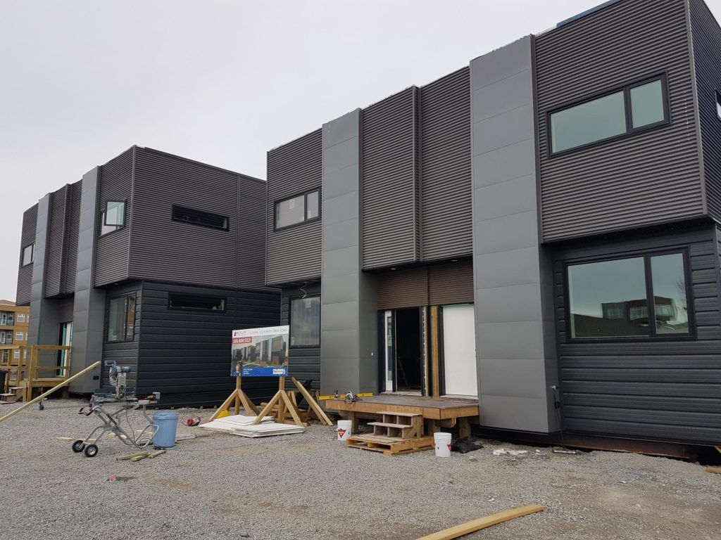 We supplied our Corrugated Siding Panels & Weathered Zinc