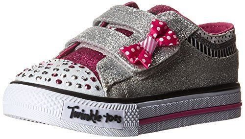 Skechers Kids Shuffles Bow Buddies Light-Up Sneaker (Toddler/Little Kid),Silver Bows,10 M US Toddler - http://all-shoes-online.com/skechers-kids/skechers-kids-twinkle-toes-shuffles-sweet-steps-140
