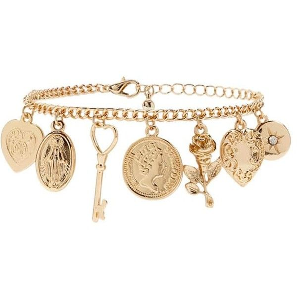 Forever21 Orted Charm Bracelet 5 90 Liked On Polyvore Featuring Jewelry Bracelets