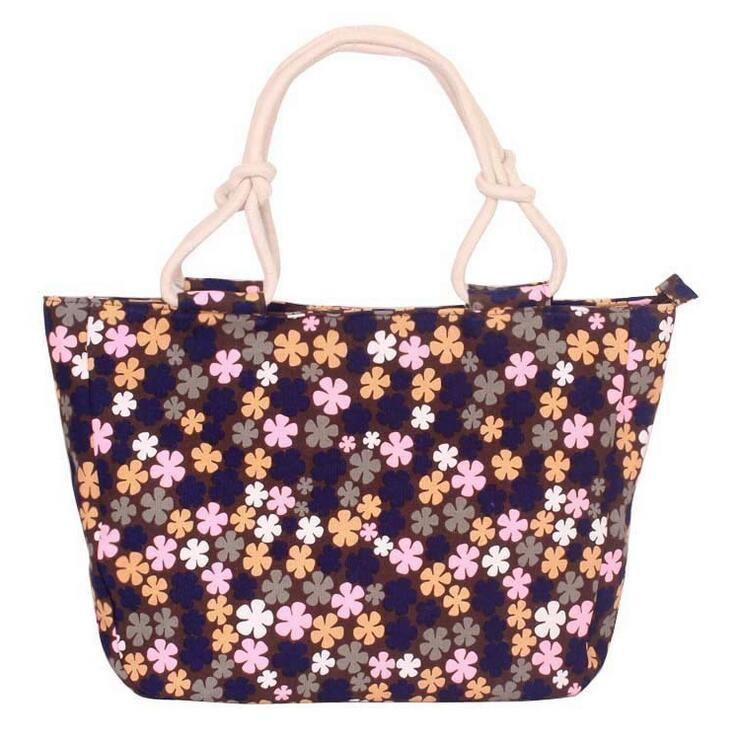 High Quality Large Capacity Shopping Mummy Bag Folding Canvas Women s  Stripes Large Beach Bags Handbag Shoulder f5b497751ca3