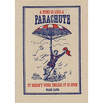 A mind is like a parachute frank zappa quote greetings card wish a mind is like a parachute frank zappa quote greetings card m4hsunfo
