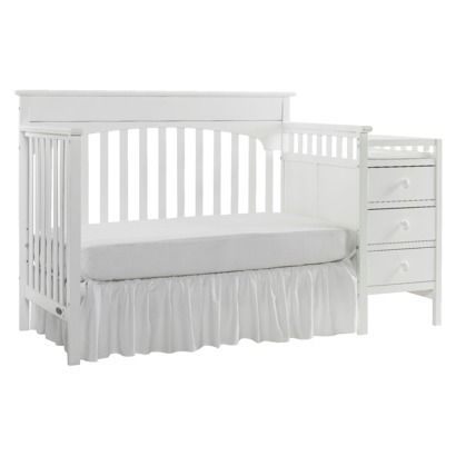 Crib Converts To Toddler Bed Graco Lauren Crib And Changer   Classic White