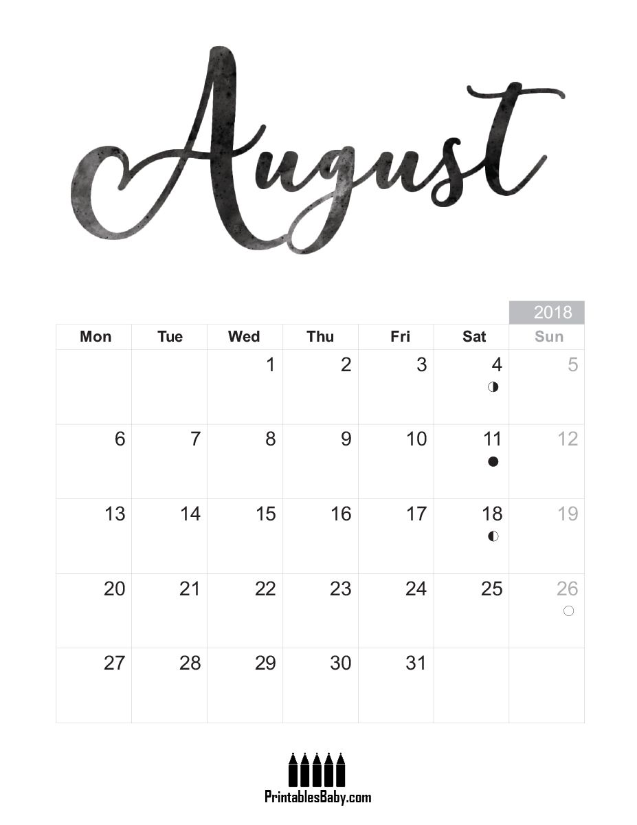 august 2018 calendar free printable sheets august. Black Bedroom Furniture Sets. Home Design Ideas