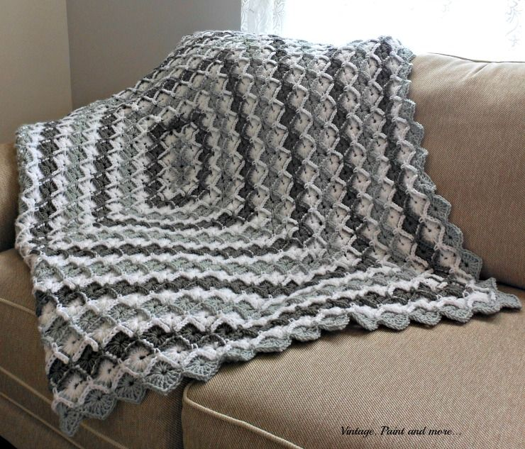 Grey diamond afghan pattern afghans diamond pattern and diamond vintage paint and more crochet diamond pattern afghan dt1010fo
