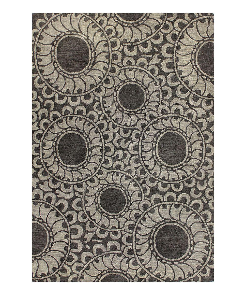 Gray Curly Loop Wool Rug | zulily