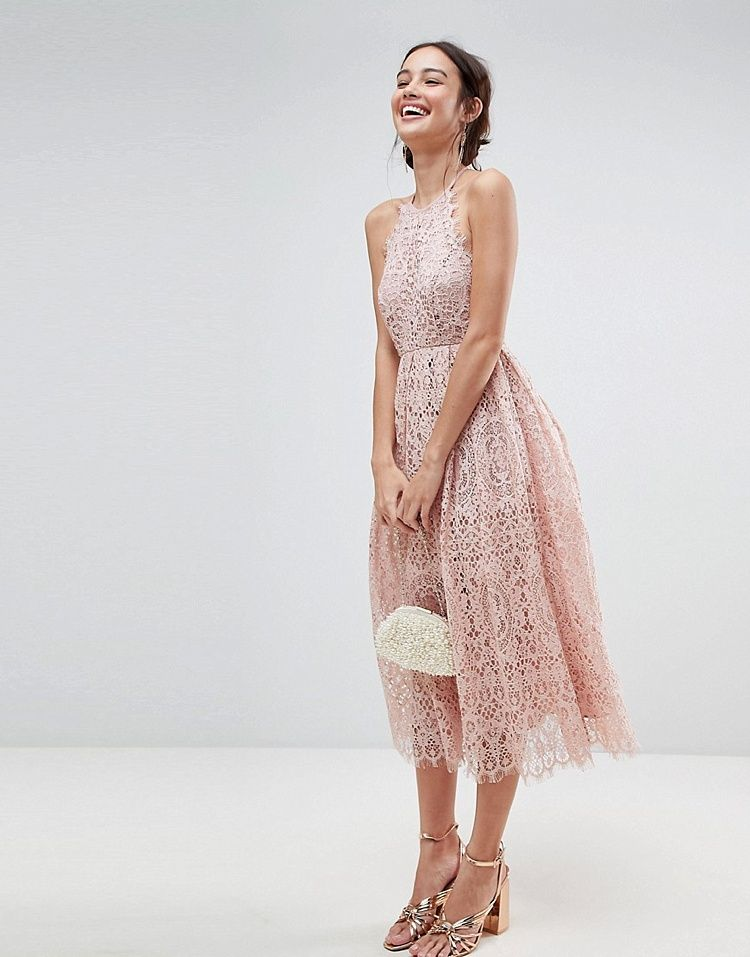 10 Bridesmaid Dresses We Can T Get Enough Of For 2018 19 Smashing The Glass Jewish Wedding Blog Lace Dress Lace Midi Dress Asos Dress