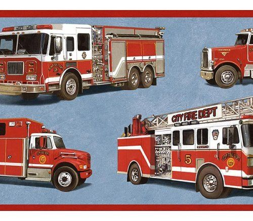 Firefighter Or Fireman Theme Wall Paper Border