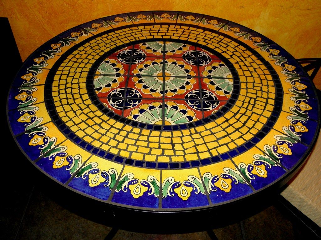 Mosaic Table Tops | Tile And Glass Mosaic Tables