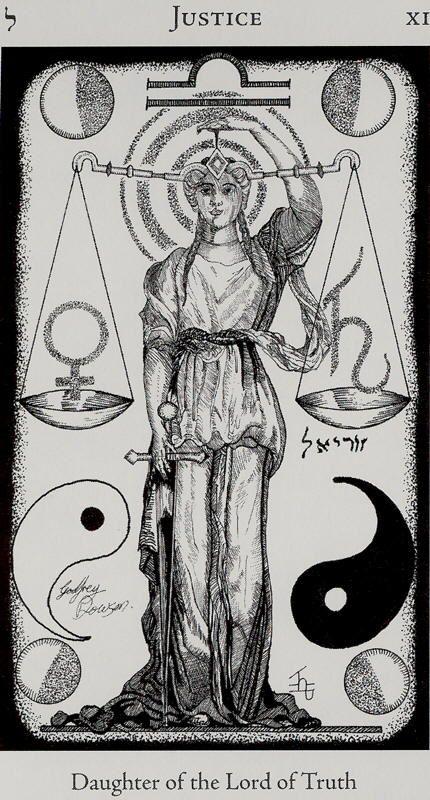 HE- VIII - XI - Justice- Major Arcana Card 11- The sign of