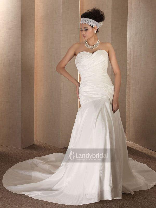 ランディブライダル 編み上げ  ローウエストライン  厚手の生地は女性特有の柔らかさをアピール  挙式用 ウェディングドレス  H700hs4662