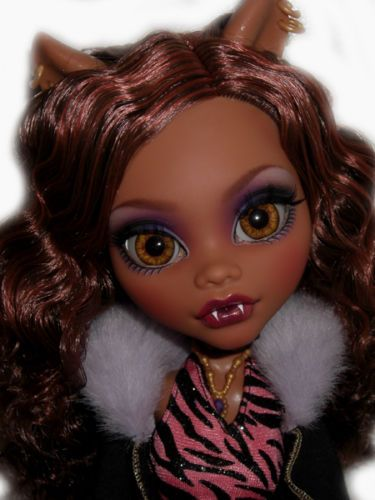 OOAK-custom-Monster-High-doll-repaint-Clawdeen-Wolf-ever-after-werewolf-bjd