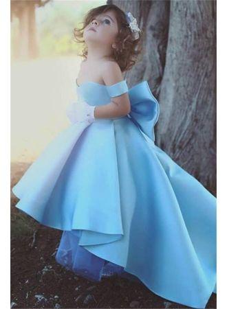 liebe baby blau kleider für blumenkinder günstig blumenmädchenkleider modellnummer qq0384