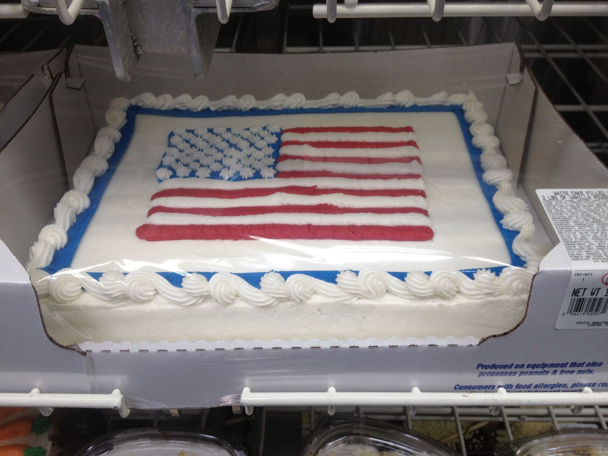 Flag cake costco 4th of july Pinterest