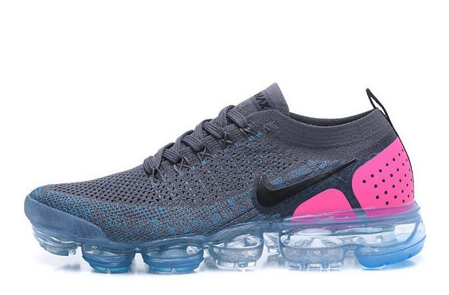 008cbaff1f44 Nike Air VaporMax Flyknit 2 2018 Dark Grey Pink Blue