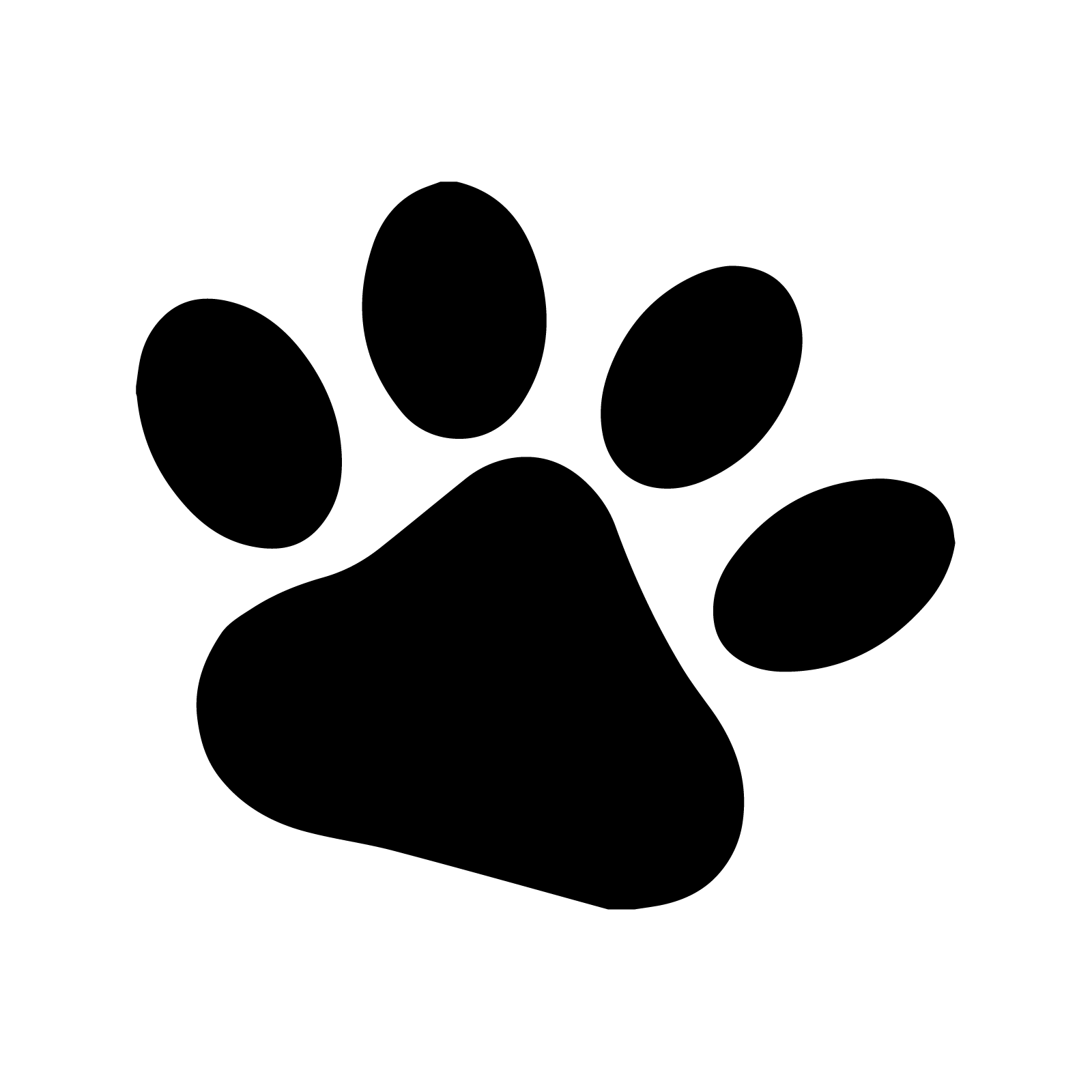 It is a graphic of Astounding Dog Paw Print Stencil Printable Free