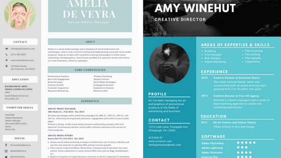 resume background tips