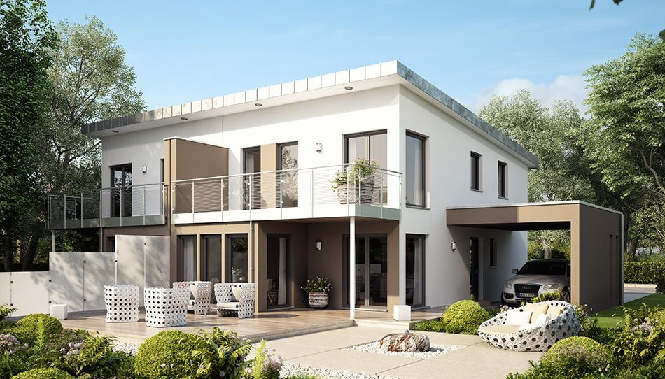 Moderne doppelhäuser pultdach  http://www.livinghaus.de/haeuser/solution/solution-126l-mit ...