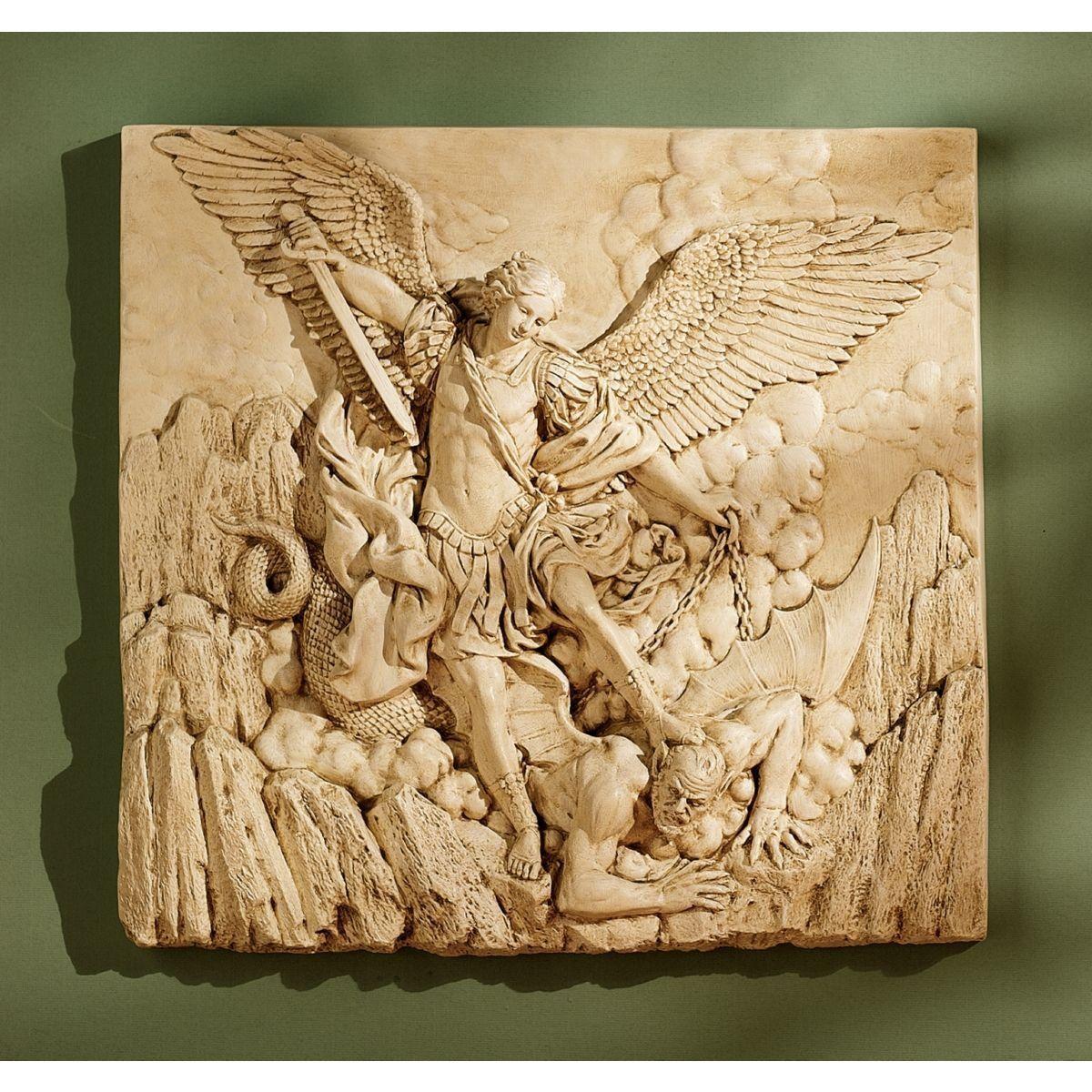 Toscano NG33581 St.Michael the Archangel Sculptural Wall Frieze http ...