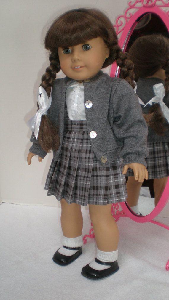 GRAY SWEATER fits American Girl 18 inch doll by dollupmydoll, $10.00