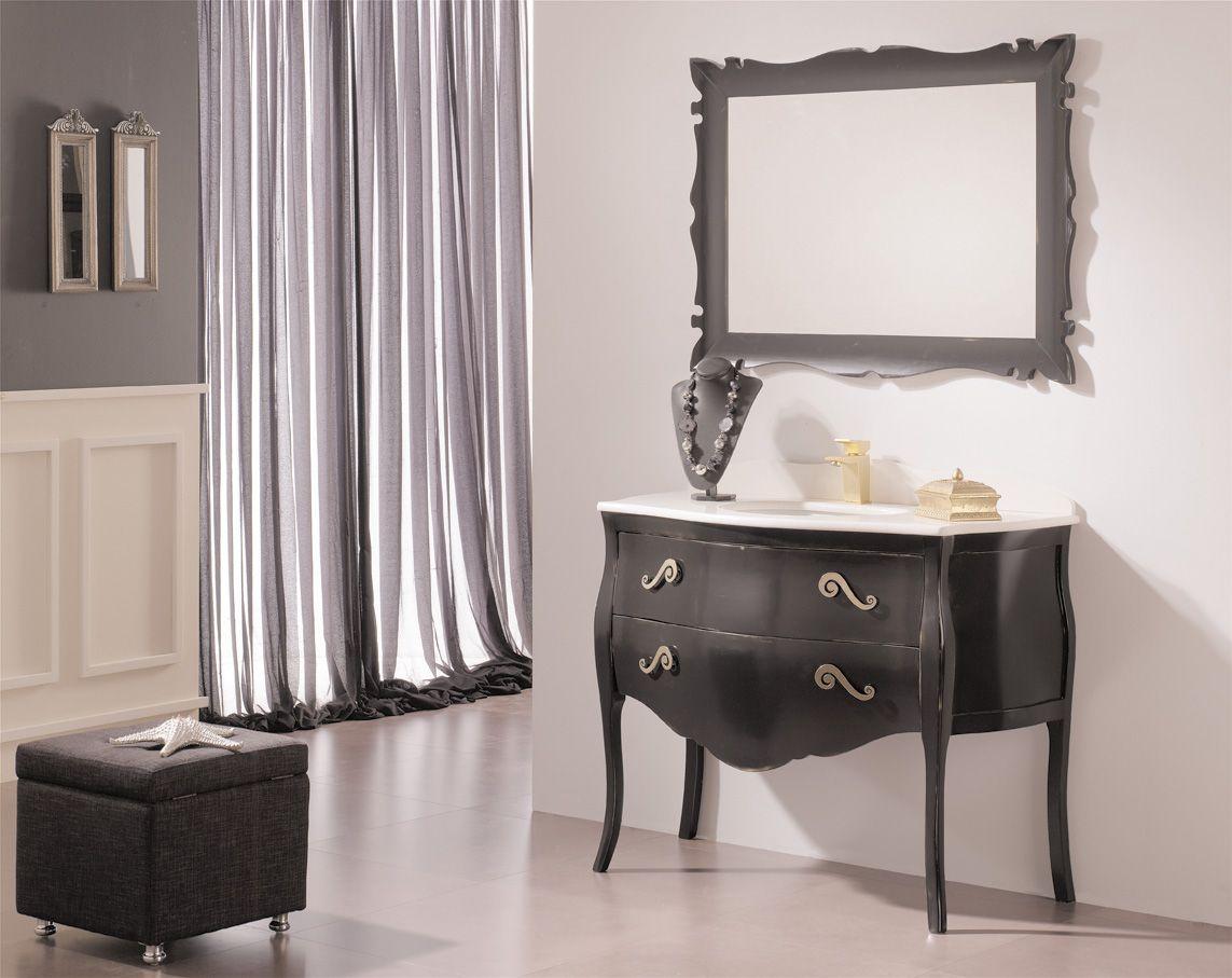 Mueble De Ba O Par S Negro Neoclasico Pinterest Muebles De  # Muebles Neoclasicos Modernos