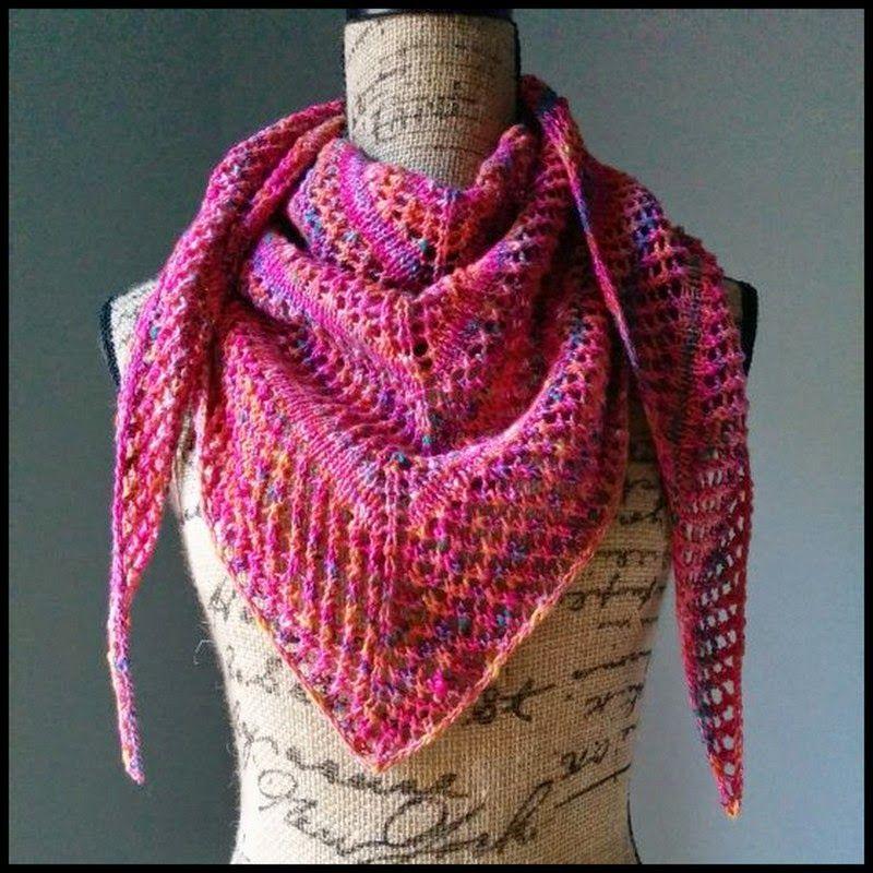 Casual Lace Knit Shawl | Knitting | Pinterest | Knit shawls, Lace ...