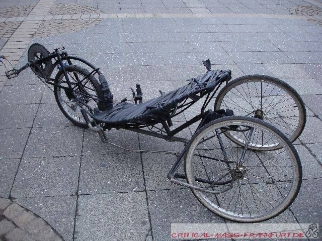 A Front Wheel Drive Trike Whch Is Steered By The Seat And