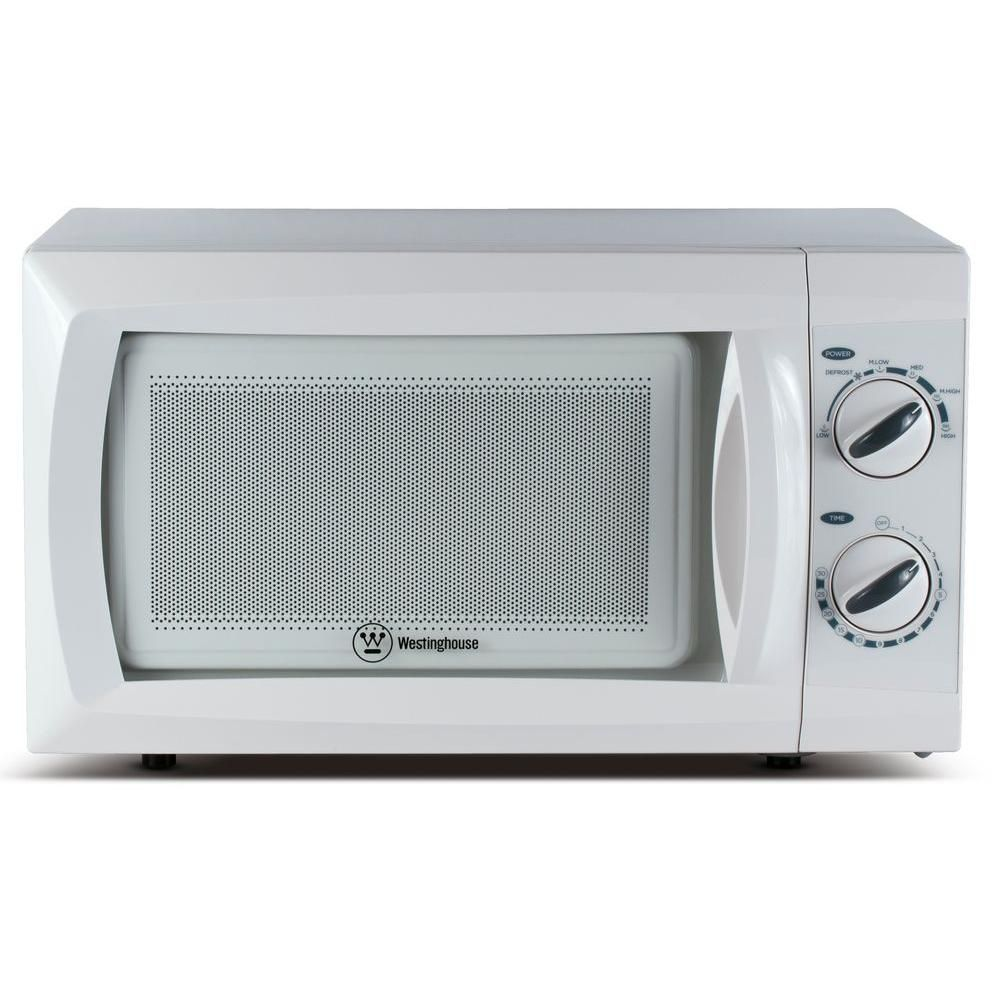 Westinghouse 0 6 Cu Ft Microwave Oven In White Built In