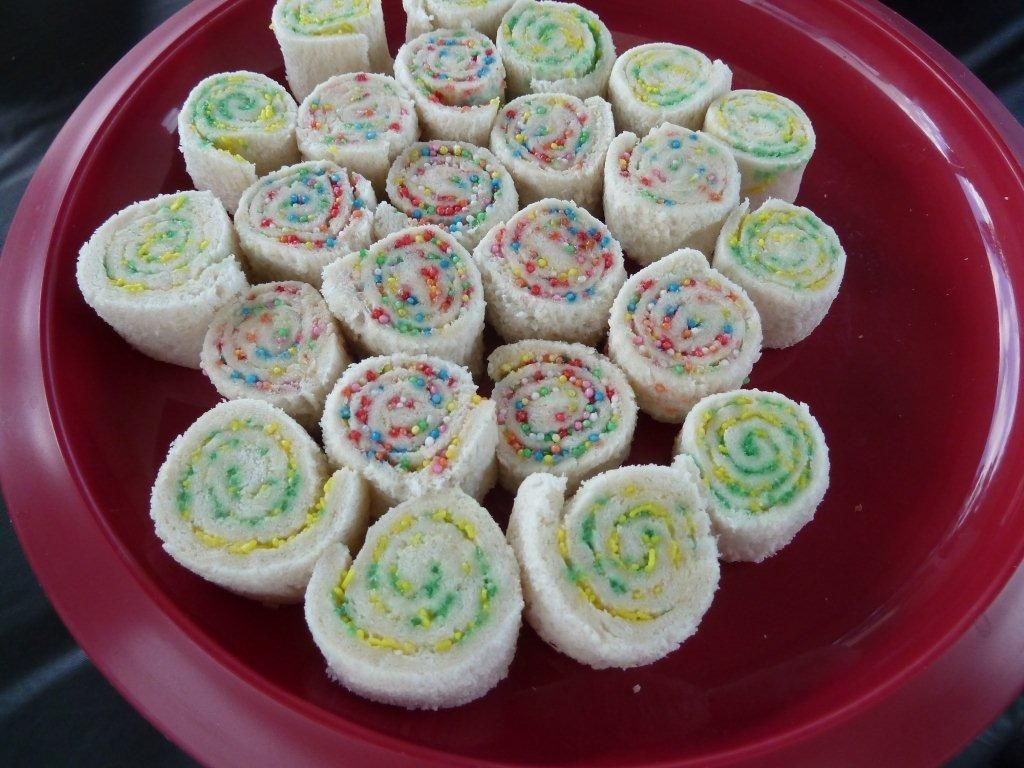 Funky Fairy Bread Roll Thingys D